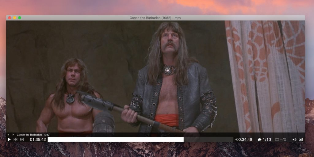 Видеопроигрыватели для macOS: Mpv