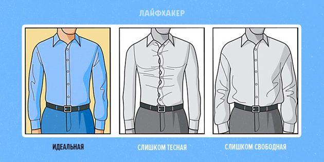 как подобрать рубашку: посадка