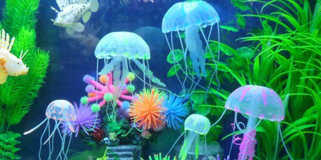 Искусственные медузы для аквариума