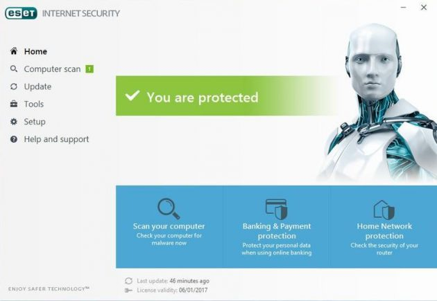 Антивирус для Windows 10: ESET Internet Security 10