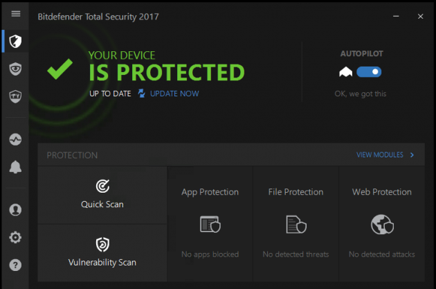 Антивирус для Windows 10: Bitdefender Total Security 2017