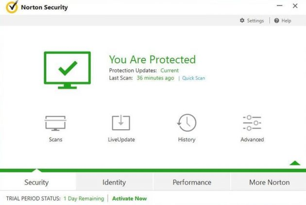 Антивирус для Windows 10: Norton Security