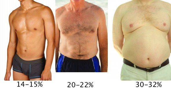 процент жира мужчины