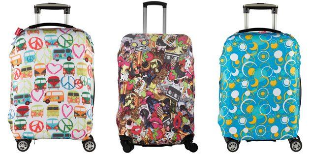 Яркие чехлы на чемодан