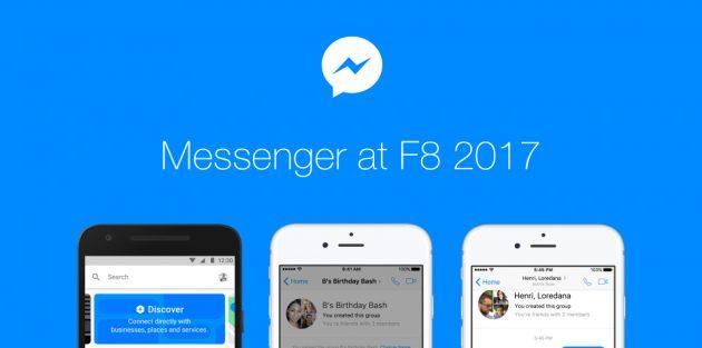 Обновлённый Facebook Messenger: боты компаний, доступ к групповым играм и персональные QR-коды