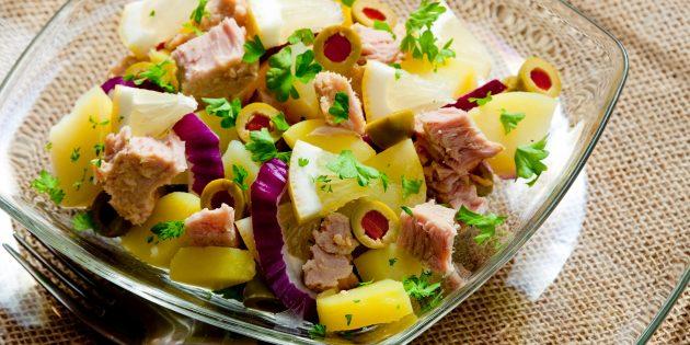 Нет «Мимозе»: 4 необычных и простых салата с рыбой