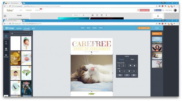Как сделать коллаж онлайн: FotoJet