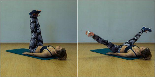 Упражнения для коленей: Разведение ног