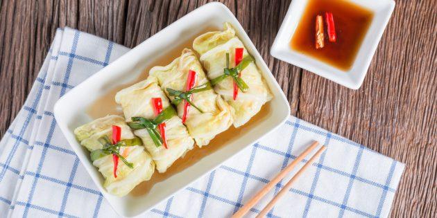 Простой рецепт голубцов по-китайски на пару