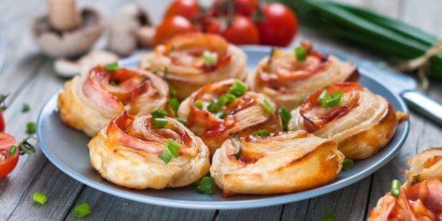 20 простых и вкусных блюд из слоёного теста: часть 2