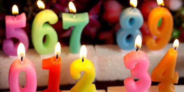 Свечи на торт в виде цифр