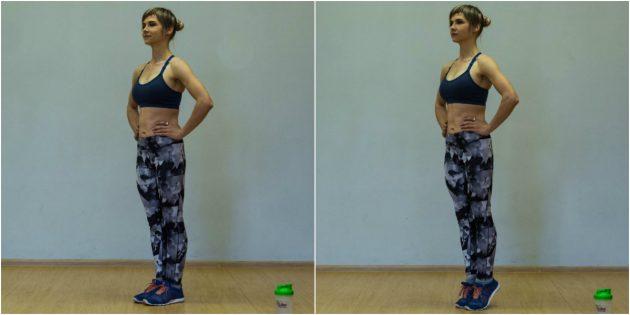 Упражнения для коленей: Подъём на носочки