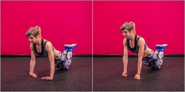 как укрепить запястья: подъём с запястий в упоре лёжа на коленях