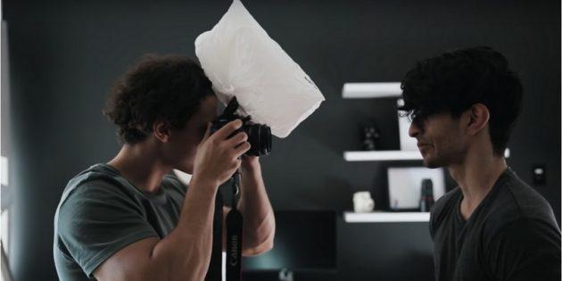 профессиональная съёмка: софтбокс