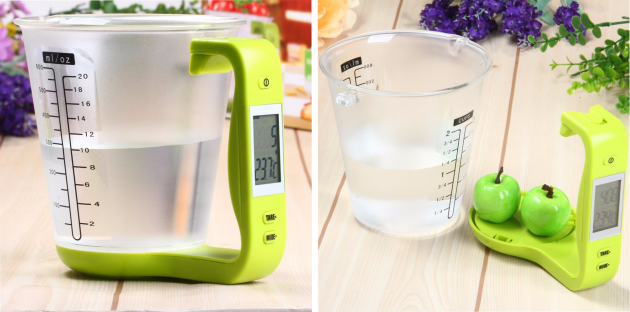 Мерный стакан-термометр