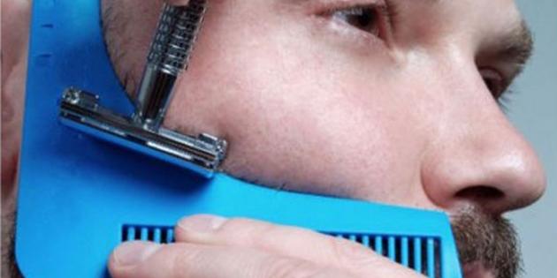 Трафарет для стрижки бороды