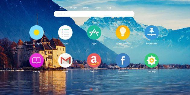 Infinity New Tab для Chrome превращает новую вкладку в рабочий стол
