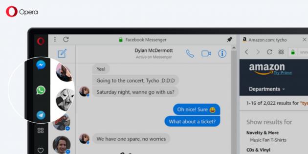 Новая Opera делает общение в Сети ещё удобнее