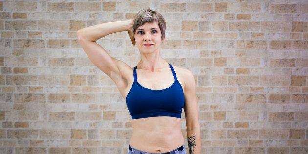 Гимнастика для шеи: Поворот головы с сопротивлением