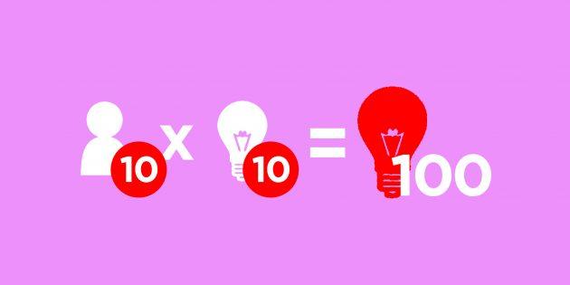 Перекрёстная намётка идей: как придумать 100 улучшений за 10 минут