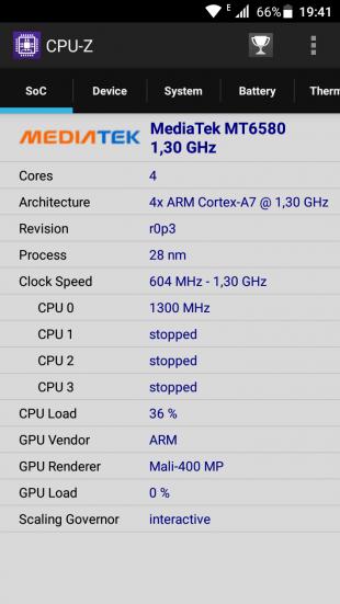 Bluboo D1 CPU2
