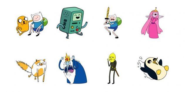 стикеры: Adventure Time
