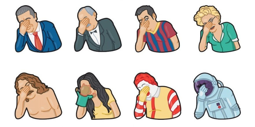 Facepalm Stickers