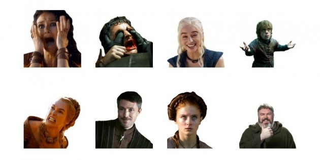 стикеры: Game of Thrones