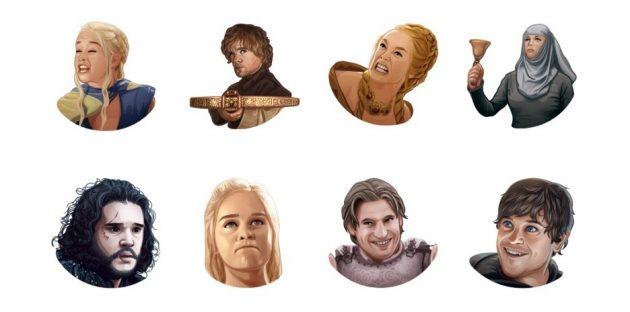 стикеры: Game of Thrones (иллюстрации)