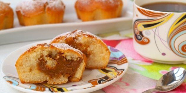 Рецепты с варёной сгущёнкой: Кексы с варёной сгущёнкой