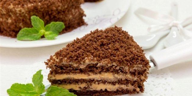 Рецепты с варёной сгущёнкой: Торт с варёной сгущёнкой