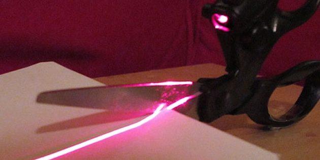 Ножницы с лазерным указателем
