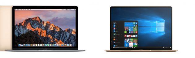 У MateBook X рамки вокруг дисплея гораздо тоньше