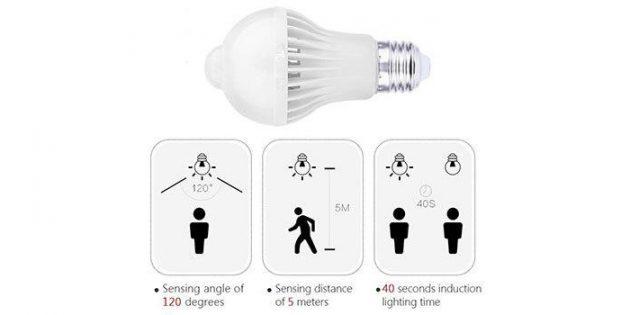 Лампа с датчиком движения