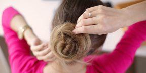 4 простые и быстрые причёски с пучком