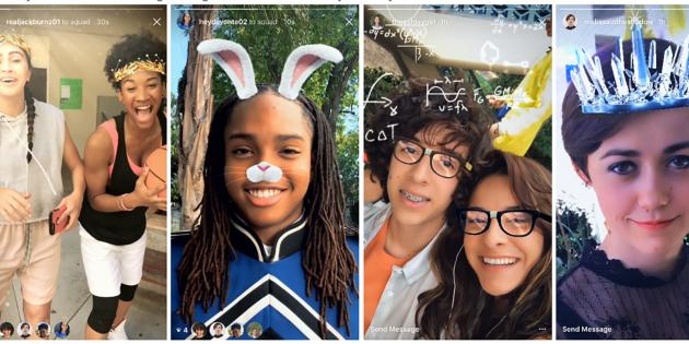 В Instagram появились селфи-фильтры и обратная запись видео