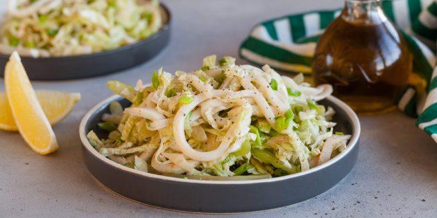 Тайский салат с кальмарами