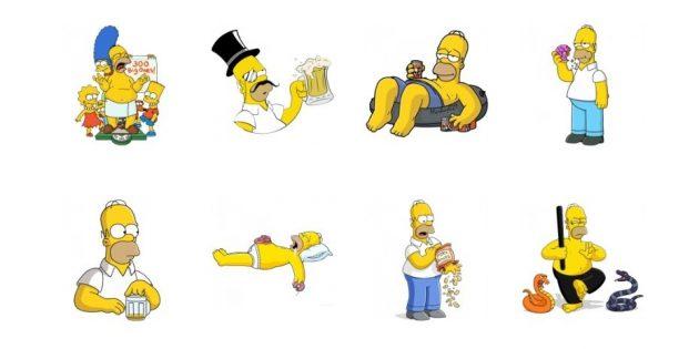 стикеры: Симпсоны