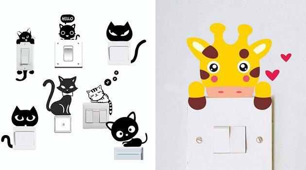 Наклейки на выключатели