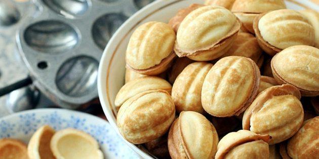 Рецепты с варёной сгущёнкой: Печенье «Орешки»