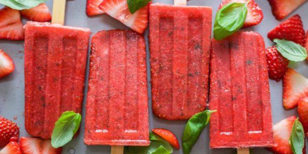 рецепты с клубникой: клубничный лёд