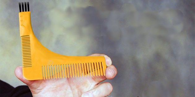 Гребень-шаблон для бороды