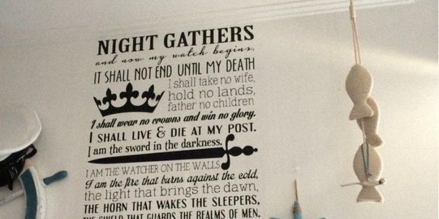 Стикер с клятвой Ночного дозора