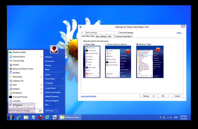 Бесплатные программы для Windows: Classic Shell