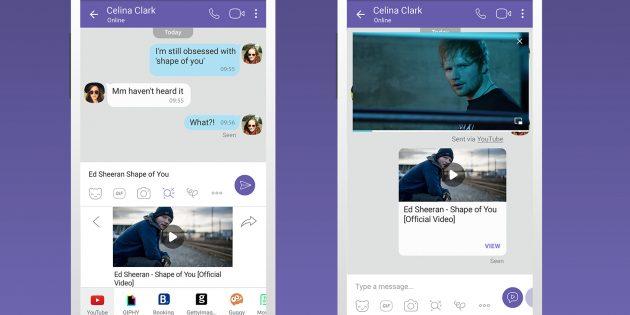 В Viber появился поиск видео на YouTube и отелей на Booking.com