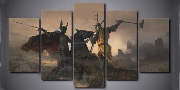 Модульная картина «Битва на Трезубце»