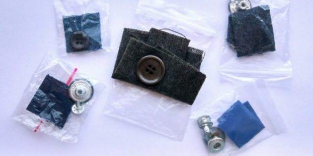 лоскут ткани, который прилагается к новой одежде