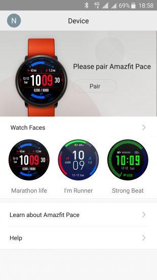 Xiaomi Amazfit Pace: работа с приложениями