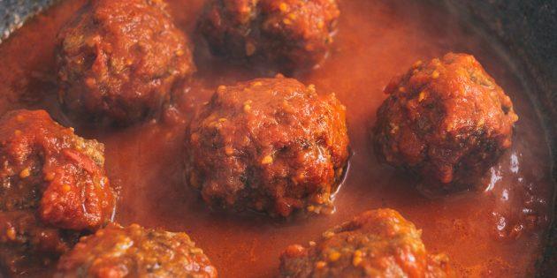 тефтели из говядины: тефтели в соусе