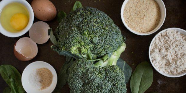 котлеты из брокколи: ингредиенты